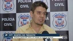 Pesquisa aponta Mato Grosso como o 5º estado brasileiro com mais mortes no trânsito