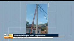 VC no MG: Após cobranças, postes de iluminação são instalados em ruas de Almenara