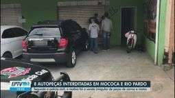 Operação em Mococa e Rio Pardo lacra 8 lojas de autopeças por desmonte irregular de carros