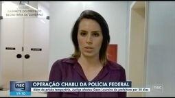Preso em operação da Polícia Federal, prefeito Gean Loureiro presta depoimento na capital