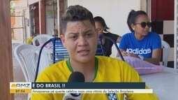 Amapaense pé quente celebra mais uma vitória da Seleção Brasileira