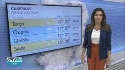 Campinas tem máxima de 27ºC nesta terça-feira
