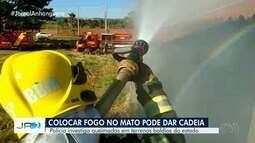 Tempo seco mal começou e as queimadas preocupam em Goiás