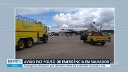 Avião faz pouso de emergência em Salvador