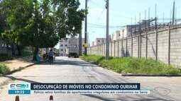 Polícia retira famílias de apartamentos irregulares em condomínio na Serra, ES