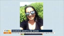 Cearense morta pelo namorado em Goiás