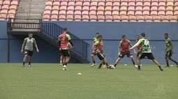 Manaus treina na Arena da Amazônia e tem baixa antes de jogo do acesso
