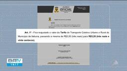 Nova tarifa de ônibus em Itabuna começa a valer na sexta-feira (19)