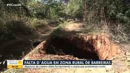 Abertura de cratera prejudica o fornecimento de água na zona rural de Barreiras