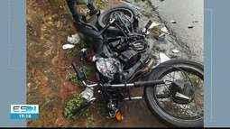 Homem morre em acidente de moto em Cachoeiro de Itapemirim, ES