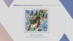 Confira obras de artistas na exposição 'Miniarte Internacional Enigma e Feira de Arte'
