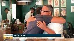 Em comemoração ao 'Dia dos Pais', Vinícius Pereira passa um dia com Seu Valdomiro