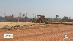 Obras no perímetro urbano da BR-364 em Ariquemes estão passando por obras