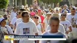 Caminhada Com Maria reúne milhares de fiéis em Fortaleza