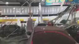 Explosão deixa posto de gasolina destruído em Campo Grande, na Zona Oeste do Rio