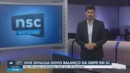 Santa Catarina registra 55 mortes por gripe em 2019