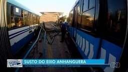 Ônibus bate em plataforma do Eixo Anhanguera