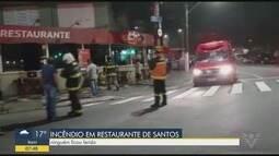 Incêndio em cozinha de restaurante assusta moradores do José Menino
