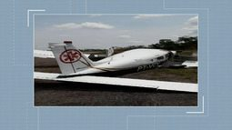 Avião perde trem de pouso ao cair em buraco durante aterrissagem no AC