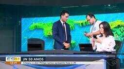 Philipe Lemos apresenta o Jornal Nacional na edição deste sábado, 21 de setembro