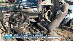Jovem de 24 anos morre após carro bater em árvore na Praia do Canto, Vitória