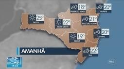 Veja como ficará o tempo em todas as regiões de SC neste domingo (22)