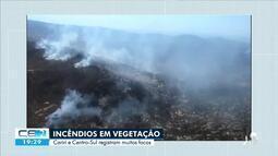 Força tarefa para apagar incêndios em vegetação no interior do estado