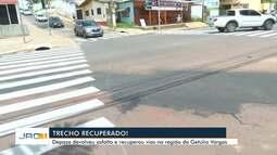 Após reclamação, Depasa devolve asfalto e recupera trechos da Getúlio Vargas