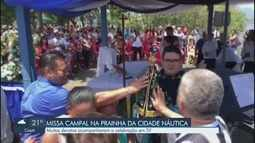 Católicos participam de Missa Campal em homenagem a Nossa Senhora Aparecida