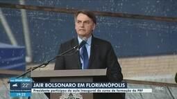 Bolsonaro inaugura complexo de tiro e participa de aula magna do curso de formação da PRF