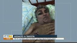 Taxista de Apiacá, ES, que foi agredido por criminosos durante assalto recebe alta