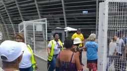 Confira momento em que portões da Arena Fonte Nova são abertos