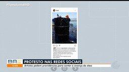 Artistas se mobilizam nas redes sociais contra o desastre ambiental que atinge o Nordeste
