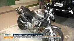 Família tenta furtar moto a caminho de festa no Conjunto Ceará