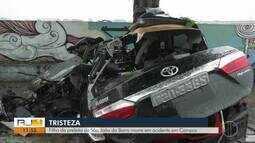 Filho da prefeita de São João da Barra morre em acidente em Campos
