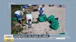 Mais de 120 toneladas de lixo são recolhidos de praias de Florianópolis