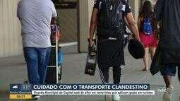 Guarda Municipal de Florianópolis alerta sobre transporte clandestino e golpe em turistas