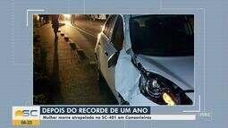 Mulher morre na SC-401 após rodovia completar um ano sem mortes em Florianópolis