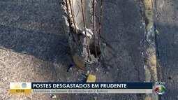 População reclama da situação de postes em Presidente Prudente