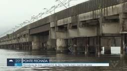 Moradores reclamam de transtornos com interdição da Ponte dos Barreiros em São Vicente