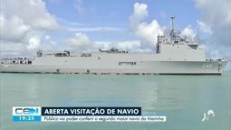 Navio atraca em Fortaleza e fica aberto pra visitação