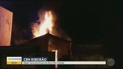 Incêndio destrói casa no bairro Quintino Facci II em Ribeirão Preto