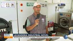 Lavanderia industrial móvel atende pessoas em situação de rua que vivem em Salvador