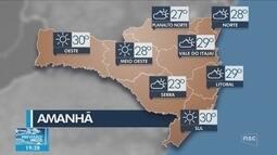 Veja como ficará o tempo em todas as regiões de SC neste domingo (5)