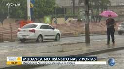 Rua Cônego Pereira sofre alterações temporárias a partir por causa de obras