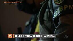 Troca de tiros entre policiais e suspeitos acontece após roubo de carro em Porto Alegre