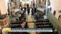 Celebração de casamento na igreja de Nossa Senhora da Vitória gera revolta entre moradores