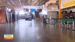 Aeroporto de Aracaju passa pela primeira desinfecção para evitar a propagação do coronavír