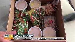 Empreendedoras vendem comida típica de festas juninas por delivery