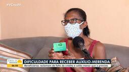 Moradores de Feira de Santana denunciam problemas no auxílio-merenda dado pelo governo